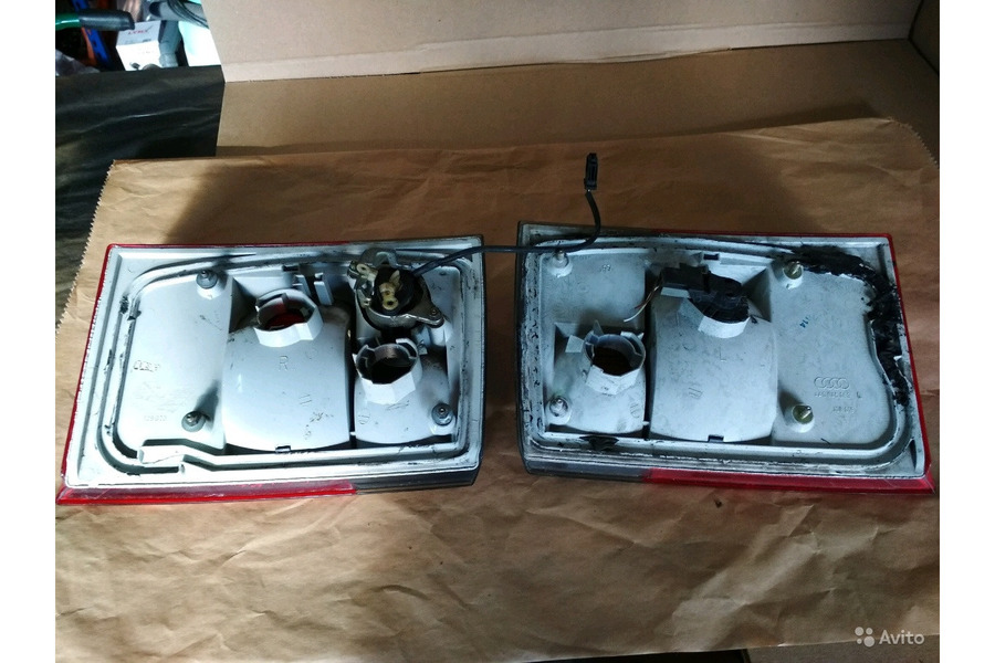 Ауди 100 45 кузов фонари задние на крышку багажник